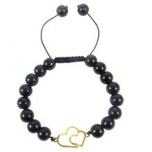دستبند طلا 18 عیار زنانه قلبی